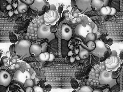 Fruit Basket Grayscale