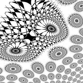 Variegated Dots - B & W