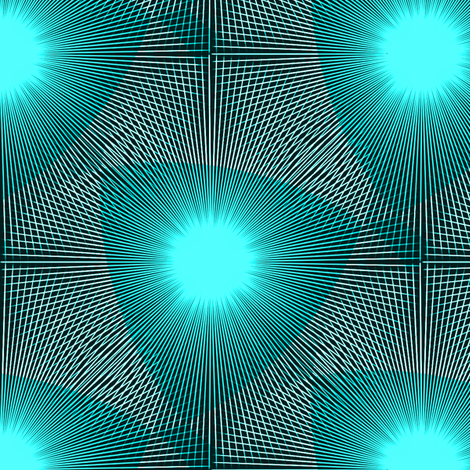 Aqua Glow fabric by telden on Spoonflower - custom fabric