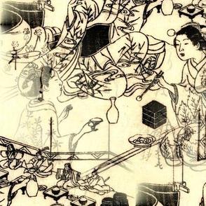 Hinamatsuri - Japanese Woodcut