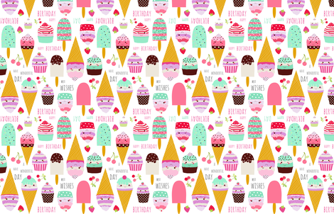 happy birthday fabric by katarina on Spoonflower - custom fabric