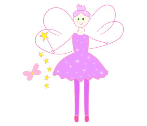 SparkleLilac Fairy fabric by de-ann_black on Spoonflower - custom fabric