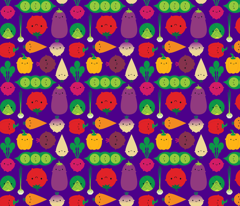 Vegetable Garden (purple) fabric by marcelinesmith on Spoonflower - custom fabric