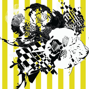 checkeredfloweryellow