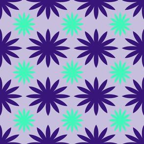 Purple & Green Flower Design