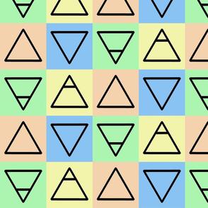 Elemental Symbols Pastel