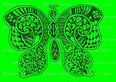 ButterflyFlutterby - med - true green