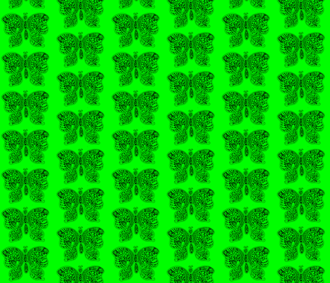 ButterflyFlutterby - med - true green fabric by celttangler on Spoonflower - custom fabric
