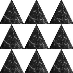 marble black triangle