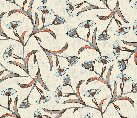Poppy Ramble / 03 fabric by elizabeth_hale_design on Spoonflower - custom fabric