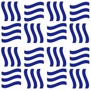 Waving Bars Blue 3