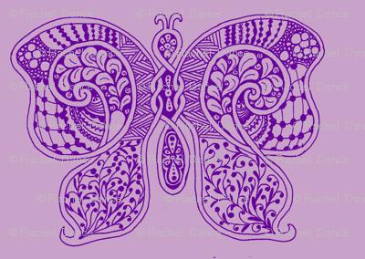 ButterflyFlutterby - med - true purple & lilac