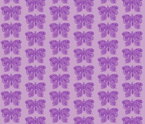 ButterflyFlutterby - med - true purple & lilac fabric by celttangler on Spoonflower - custom fabric