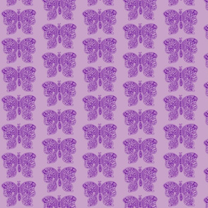 ButterflyFlutterby - med - true purple & lilac