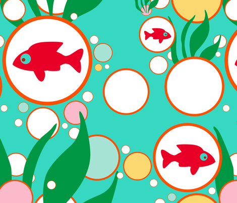 Bubble Fish fabric by honey_gherkin on Spoonflower - custom fabric