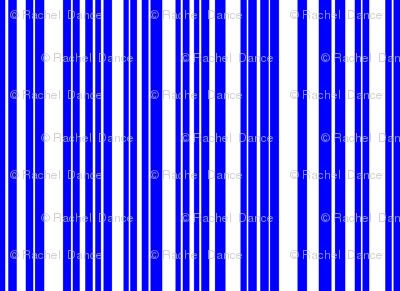 ButterfluFlutterby stripe - true blue reverse