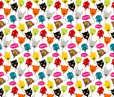 Birthday Party ~ Balloon Animals fabric by retrorudolphs on Spoonflower - custom fabric