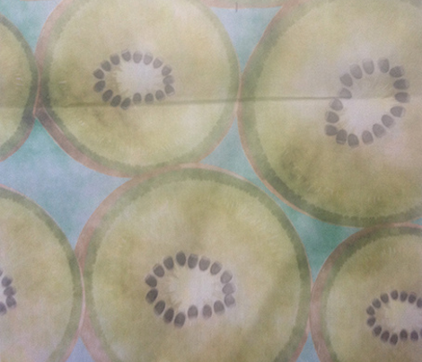 kiwi in watercolour