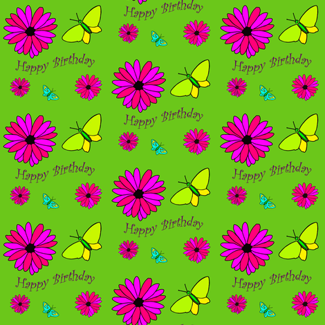 Birthday_Nature fabric by jeeky on Spoonflower - custom fabric