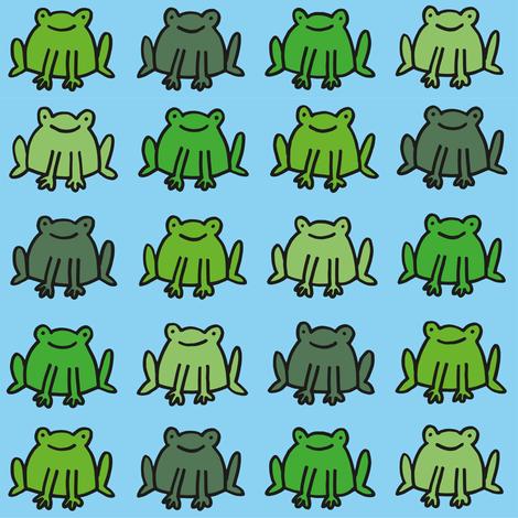 frogs fabric by philippittam on Spoonflower - custom fabric