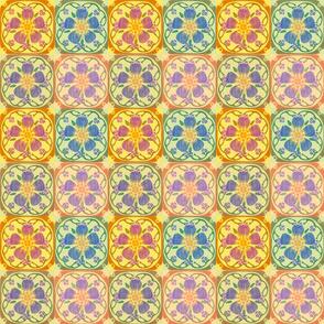 Art Nouveau Flower Quilt