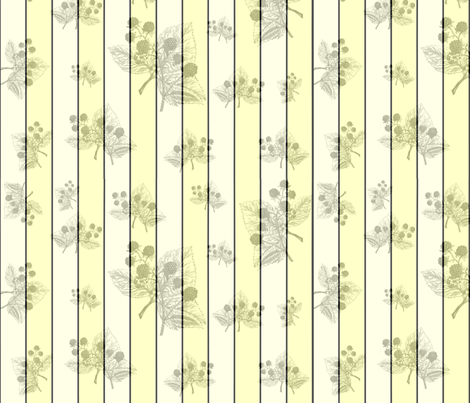Blackberry Yellow fabric by marchhare on Spoonflower - custom fabric