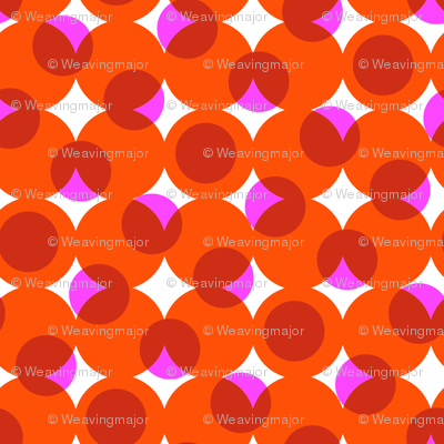 enormous halftone dots in reds