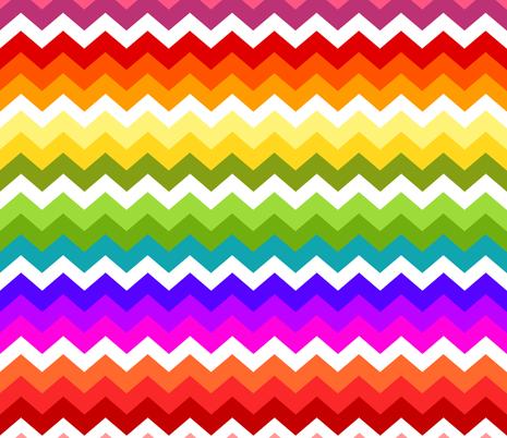 Ziggy Rainbow fabric by natitys on Spoonflower - custom fabric