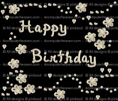 Whipped Cream  - Happy Birthday!  - © PinkSodaPop 4ComputerHeaven.com