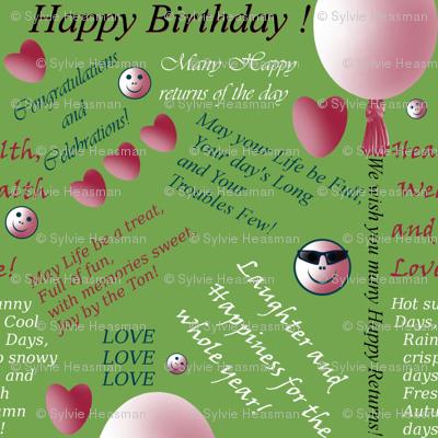 Happy Birthday in Green by Sylvie