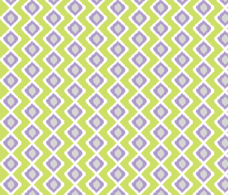 Spring Green Ikat fabric by love,witty on Spoonflower - custom fabric