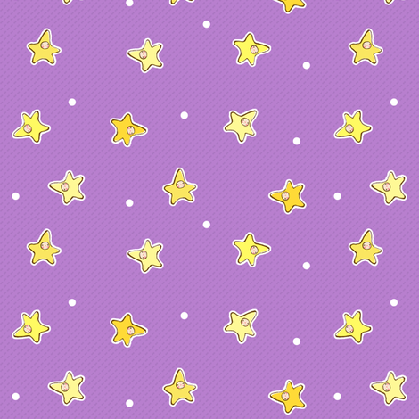 Wee Stars fabric by puddlefoot on Spoonflower - custom fabric