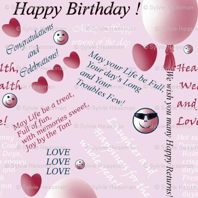 Birthday Paper by Sylvie
