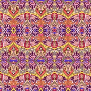 Bollywood Scallops horizontal stripe