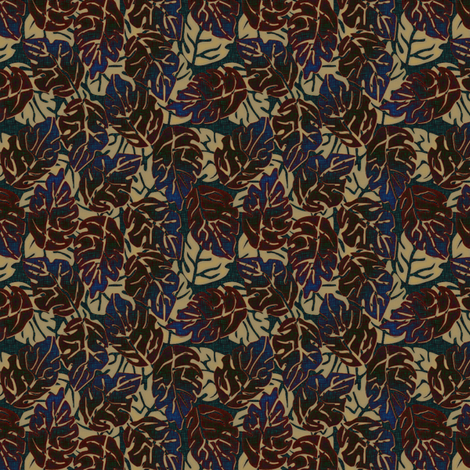 leaves apart iridescent fabric by glimmericks on Spoonflower - custom fabric
