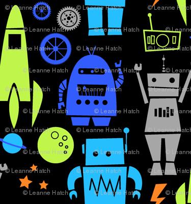 Rockets n' Robots (lime)