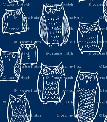 """Little"" Night Owl (Dark Blue)"