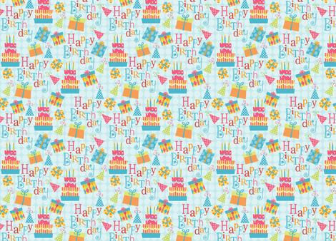 Happy Birthday! fabric by snowflower on Spoonflower - custom fabric