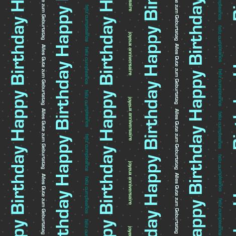 Multilingual Birthdays fabric by spikymammal on Spoonflower - custom fabric