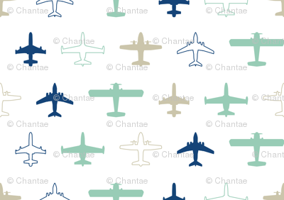 planes in white