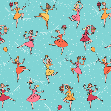 happy_birthday_dance fabric by alexandra_pillaert on Spoonflower - custom fabric
