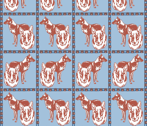 belgian_malinois_ and_pawprints fabric by dogdaze_ on Spoonflower - custom fabric