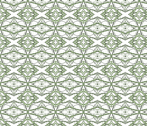 spring_branches_green_lace fabric by tangledvinestudio on Spoonflower - custom fabric