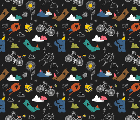 blackboard fabric by laurawrightstudio on Spoonflower - custom fabric