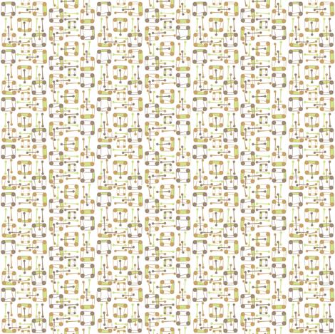 wacky jumble mod wallpaper fabric by joojoostrees on Spoonflower - custom fabric