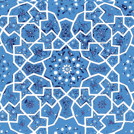 Blue Persian fabric by amyvail on Spoonflower - custom fabric