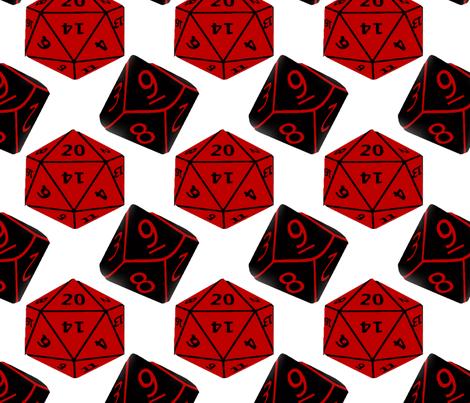 Geek Dice fabric by slickandhisruin on Spoonflower - custom fabric