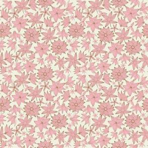 Spring flowers in pink