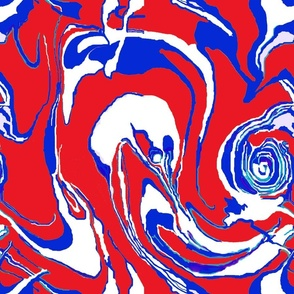 Marble Red Blue