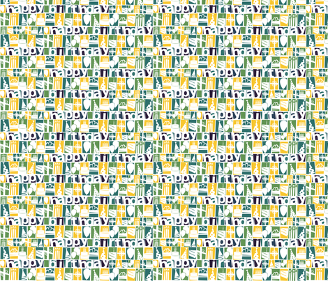 Happy Birthday fabric by wildnotions on Spoonflower - custom fabric